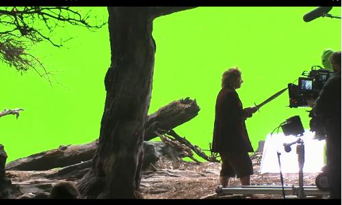 green screen Bilbo